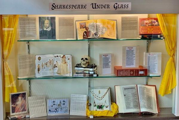 Shakespeare Under Glass Display